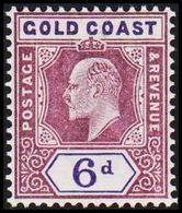 1902. GOLD COAST. Edward VII. 6 D.  (MICHEL 39) - JF319210 - Costa D'Oro (...-1957)