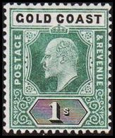 1902. GOLD COAST. Edward VII. 1 S.  (MICHEL 40) - JF319211 - Costa D'Oro (...-1957)