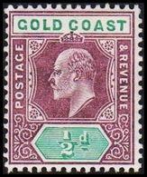 1904-1913. GOLD COAST. Edward VII. ½ D.  (MICHEL 45) - JF319213 - Costa D'Oro (...-1957)