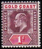 1904-1913. GOLD COAST. Edward VII. 1 D.  (MICHEL 47) - JF319214 - Costa D'Oro (...-1957)