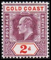 1904-1913. GOLD COAST. Edward VII. 2 D.  (MICHEL 49) - JF319215 - Costa D'Oro (...-1957)