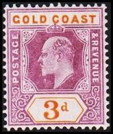 1904-1913. GOLD COAST. Edward VII. 3 D.  (MICHEL 53) - JF319217 - Costa D'Oro (...-1957)