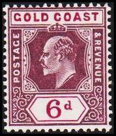 1904-1913. GOLD COAST. Edward VII. 6 D.  (MICHEL 55) - JF319218 - Costa D'Oro (...-1957)