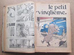 Reliure Des Petit Vingtième De L'année 1936 En Reliure Amateurs / Etat - Tout Les Défauts Ont Leurs Scans - Tintin