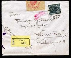 A6475) Austria Österreich R-Brief Marinefeldpost Pola Mit Seltener Zensur - Briefe U. Dokumente