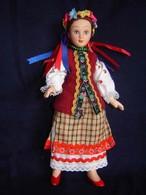 Porcelain Doll In Cloth Dress Of Ukraine Republic  - - Dolls