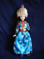 Porcelain Doll In Cloth Dress Burjat Republic National Dress - Russia - Dolls
