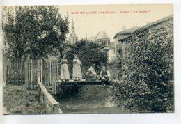 """52 MONTIER En DER Edit Guerin Mugnier -   Villageois Sur Passerelle Bois Riviere """" La Voire """"   1920   /D20-2017 - Montier-en-Der"""