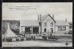 CPA 28 - Thiron-Gardais, Groupe Scolaire Et Avenue De La Gare - RARE - France