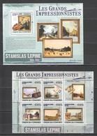 UC312 2009 UNION DES COMORES ART STANISLAS LEPINE 1KB+1BL MNH - Impressionisme