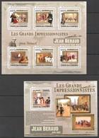UC313 2009 UNION DES COMORES ART PAINTINGS JEAN BERAUD 1KB+1BL MNH - Impressionisme