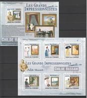 UC314 2009 UNION DES COMORES ART CHILDE HASSAM 1KB+1BL MNH - Impressionisme