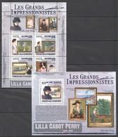 UC317 2009 UNION DES COMORES ART LILLA CABOT PERRY 1KB+1BL MNH - Impressionisme