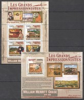 UC318 2009 UNION DES COMORES ART WILLIAM MERRITT CHASE 1KB+1BL MNH - Impressionisme