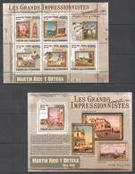 UC323 2009 UNION DES COMORES ART MARTIN RICO Y ORTEGA 1KB+1BL MNH - Impressionisme