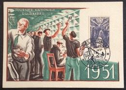 N403 Versailles Journée Du Timbre 879 Tri Postal Premier Jour 10/3/1951 Carte Maximum - Maximum Cards