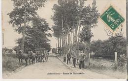 SENNEVIERES. CP Route De Chévreville Attelage - France
