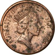 Monnaie, Fiji, Elizabeth II, Cent, 1999, TTB, Copper Plated Zinc, KM:49a - Fidji