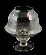 Tiffany üveg Gyertyatartó Két Részből, Alsó Részen Kis Lepattanásokkal. M: 22 Cm, D: 20 Cm - Verre & Cristal