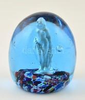 Gömb Levélnehezék, Belsejében Akt Figurával, Apró Hibákkal, M: 9 Cm - Verre & Cristal