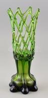 Dekoratív Fújt Váza, Jelzetlen, Apró Karcolásokkal M:30,7 Cm - Verre & Cristal