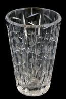 Metszett üveg Váza, Karcolásokkal, Apró Csorbákkal, M: 15,5 Cm - Verre & Cristal