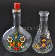2 Db Kézzel Festett üvegcse 12 Cm - Verre & Cristal