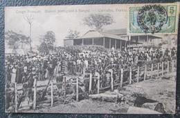 Gabon Maison Portugaise Bangui Carvalho Fernandes And Co  Cpa Timbrée - Zentralafrik. Republik