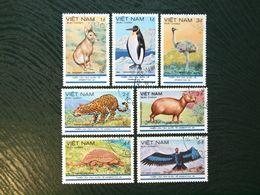 Vietnam, 1985, Mi VN 1580-1586,CTO - Animals Used  Pingvin , Eagle - Vietnam