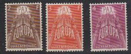 Europa Cept 1957 Luxemburg 3v Mh (= Mint, Hinged) (45901B) - Europa-CEPT