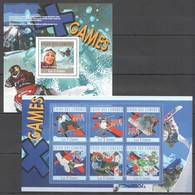 UC173 2010 UNION DES COMORES LES GAMES WINTER GAMES 1KB+1BL MNH - Wintersport (Sonstige)