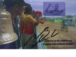 Carte Postale De Nino SCHURTER - Dédicace - Hand Signed - Autographe Authentique - - Wielrennen