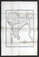 Carta Geografica - Carta Dell'indostan O India Di Qua Dal Gange - 1860 Ca. - Altre Collezioni