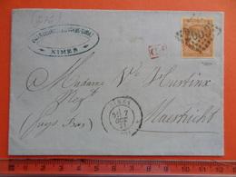 276 NIMES (Gard) GC 2659 Sur 40c Bordeaux En Port Du Pour Maastrich (Pays-Bas) Du 7.10.1871 Cote 300€ - 1870 Emission De Bordeaux