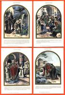 """Rare Suite De 12 CPA Chromo Illustrée Par Paul Kauffmann """" La Vie De Sainte Odile """" - Kauffmann, Paul"""