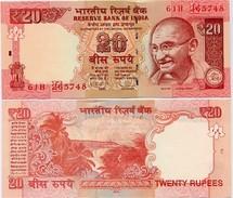 "INDIA      20 Rupees  ""ERROR""      P-103h      2014       UNC  [ Sign. Subbarao - Letter E ] - Indien"