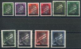 RC 15285 AUTRICHE N° 543 / 552 SÉRIE TIMBRES ALLEMANDS SURCHARGÉS COTE 180€ NEUF * MH - 1945-.... 2nd Republic