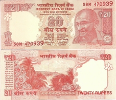INDIA      20 Rupees      P-103ac       2018       UNC  [ Paler Colour - New Serial Number - Sign. Patel - Letter L ] - India