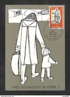 LUXEMBOURG - Carte MAXIMUM 1960 - AIDE AUX RÉFUGIÉS - Cartes Maximum