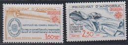 Europa Cept 1982 Andorra Fr 2v ** Mnh (45905D) - Europa-CEPT