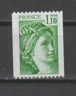 FRANCE / 1979 / Y&T N° 2062 ** : Sabine 1.10 F (roulette Sans N°) X 1 - France