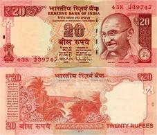 INDIA      20 Rupees      P-103i       2014       UNC  [ Sign. Rajan - Letter E ] - Indien
