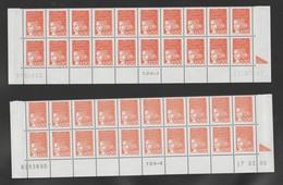 FRANCE / 1997 / Y&T N° 3089 ** (avec PHO) : Luquet 1F Orange 2 X 20 - BdF Avec Coins Datés (Teintes Foncées & Claires) - Francia