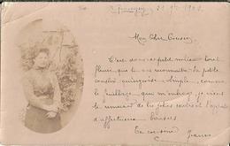 Carte Photo Femme En Medaillon Quingey - Foto