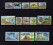 TANZANIA    1965    Various  Designs    Part  Set  Of  13    USED - Tanzania (1964-...)