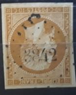 Empire No 13 A B Bistre Orange Obl Pc 3842 Bureau Supplémentaire De CHATILLON SUR MARNE,  Marne , Belle Frappe TB - 1853-1860 Napoleon III