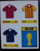 Figurina Micro Calcio Vallardi 90-91 Reggiana Lecce Pisa Milan - Altri