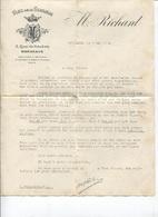 FACTURE - NEGOCIANT En VINS De La GIRONDE - Ets M.RICHARD - BORDEAUX - 1932 ... - Facturen