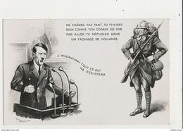 SATIRIQUE HITLER J ANEANTIRAI TOUT CE QUI ME RESISTERA CPA BON ETAT - War 1939-45