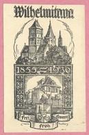 "67 - STRASSBURG - STRASBOURG - Carte D'étudiant - "" Wilhelmitana "" - Studentika - Carte Signée Henri BACHER - St Thomas - Strasbourg"